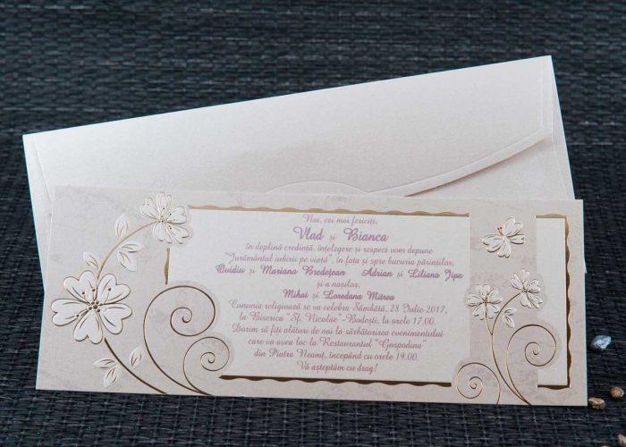 invitatii nunta elegante aurii 1105