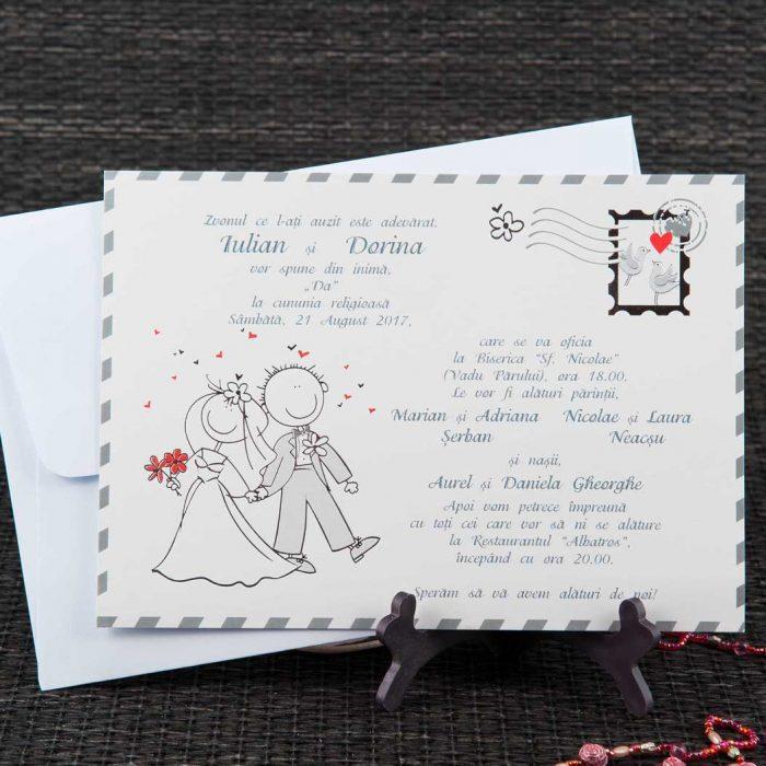 invitatii nunta carte postala 20440