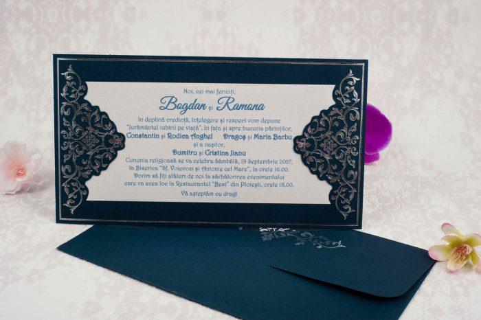 invitatii nunta albastre 2192