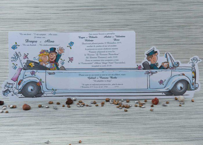 invitatii nunta haioase comice limuzina 1052