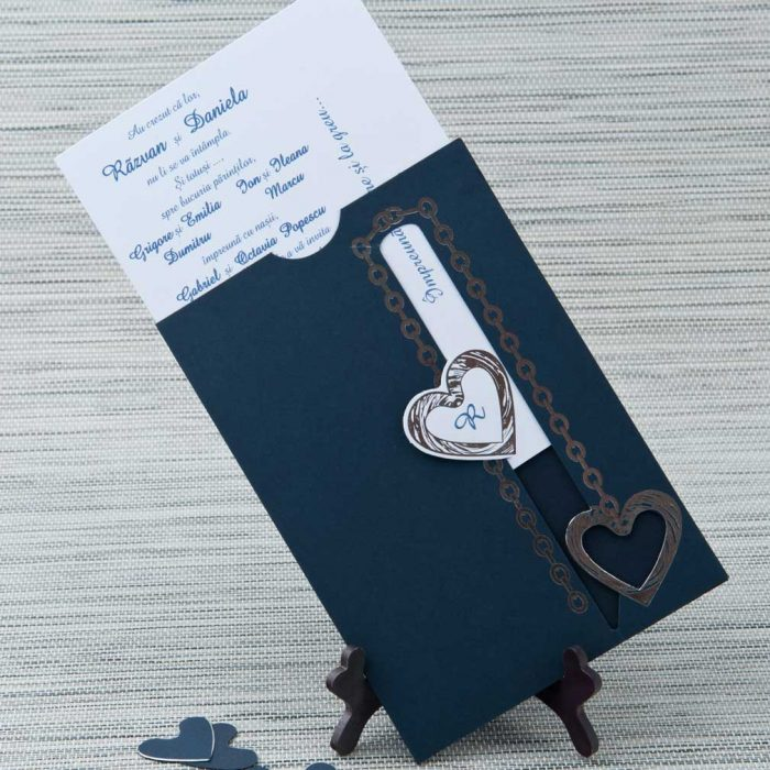 invitatii nunta albastre 5108