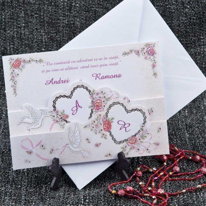 invitatii nunta vintage 5162