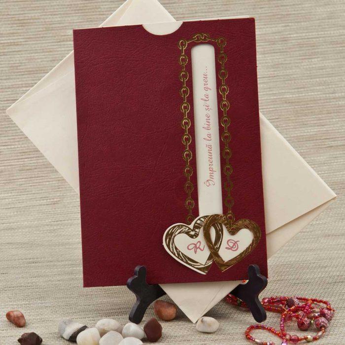 invitatii nunta visinii inimioare 5208