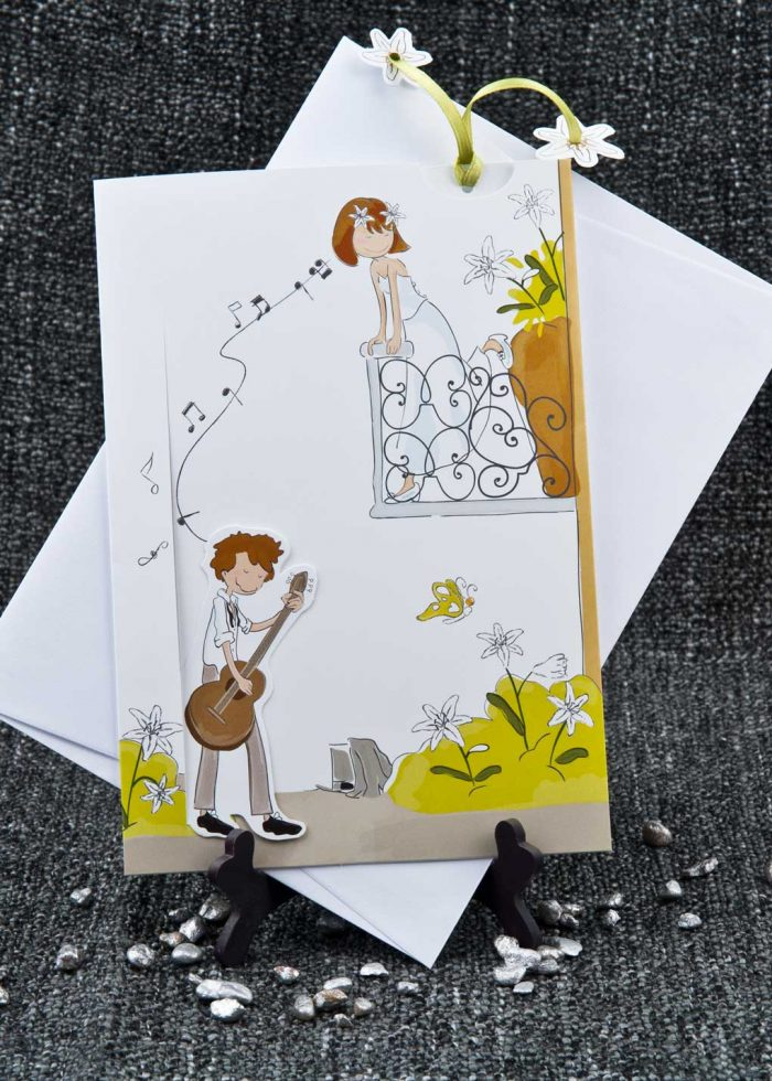 invitatii nunta comice romeo si julieta, tema muzica 1051