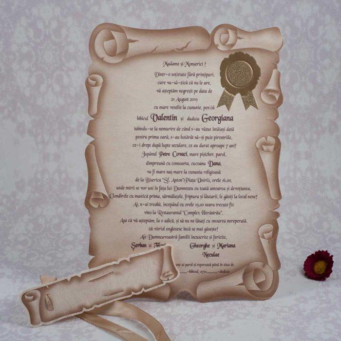 invitatii nunta papirus 1086