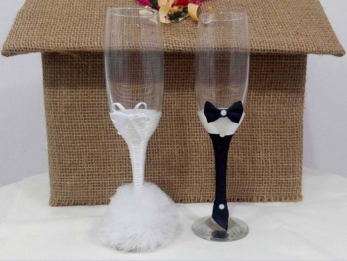 pahare sampanie nunta